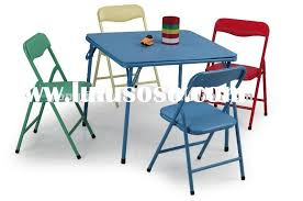 Small Picture Nice Childrens Folding Table And Chairs Kids Furniture Folding Set