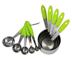 4 measuring cups and spoons