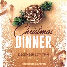christmas dinner poster events