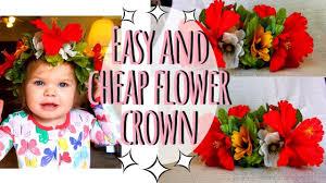 diy flower crown moana flower crown super and easy