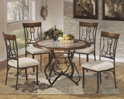 Iron Table And Chairs Set Hopstand Round Dining Table And 4 Uph Side Chairs D314 014 15b