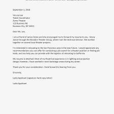 Cover Letter Referral Sample Referred By A Friend Cover Letter Referral Cover Letters Examples