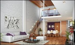 interior brick walls and stone wall ideas for a house painted white