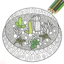 Search through 52013 colorings, dot to dots, tutorials and silhouettes. Free Adult Coloring Book Pages With Succulent Terrariums