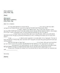 Nanny Reference Letter Cover Letter Examples For Spouse Visa