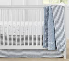 belgian flax linen anchor crib bedding