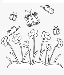 Make your world more colorful with printable coloring pages from crayola. Printable Butterfly And Flower Garden Coloring Page For Both Aldults And Kids