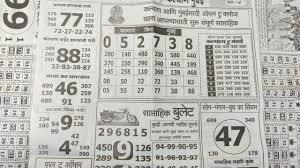 Kalyan Patrika Chart Kalyan Saptahik Chart Pura Week Malamal