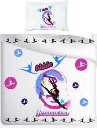 stunning personalised gym single duvet cover and pillow case set 4
