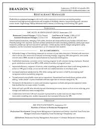 Hospitality Resume Sample Manager Resume Sample Template Intended ...