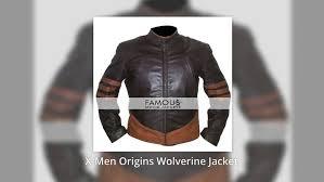 x men origins wolverine brown motorcycle leather jacket