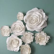 paper flower home decor by paperflora flower backdrop photo wall white paper flower