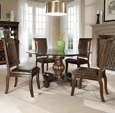 Sturdy Formal Dining Room Sets Design Showcasing Wooden Top Round - Formal round dining room sets