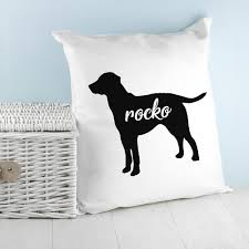 personalised dog silhouette cushion ers