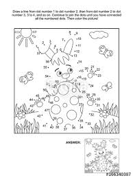 Easter Themed Connect The Dots Picture Puzzle And Coloring Page With