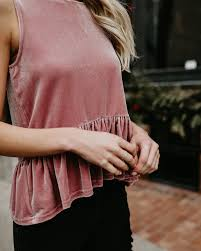 Stir It Up Velvet Tank - Dusty Pink - FINAL SALE