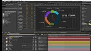 Infographics After Effects Template Circle Pie Chart Customization Video