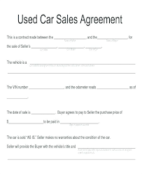 Purchase Agreement Vehicle Auto Sale Agreement Template Car Sale Car Sale Agreement Template