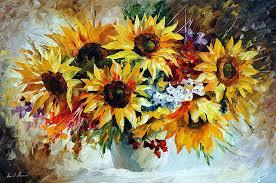 sunflower oil painting morning sunflowers morning sunflowers