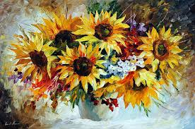 sunflower oil painting morning sunflowers morning sunflowers