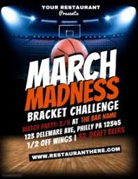 March Madness Flyer 710 Customizable Design Templates For March Madness Basketball