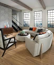 Living Room With Sectional Sofa Furniture Using Curved Sectional Sofa For An Exciting Living Room