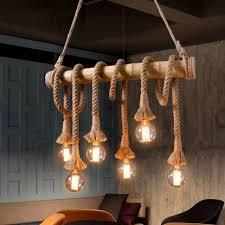 lighting awesome rope pendant light diy led kit lamps nautical nz aiwen hemp chandelier ceiling