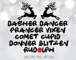 Reindeer Name List Etsy