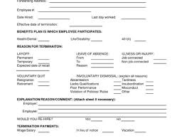 employee termination form template job termination form under fontanacountryinn com