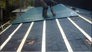 how to metal roof for easy installation gal steel roofing tiles over shingles installing galvanized