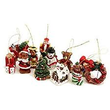 Gisela Graham Box of 12 Mini Christmas Tree Decorations: Amazon.co ...