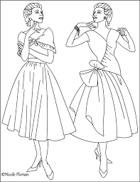 Small Picture Nicoles Free Coloring Pages Vintage Fashion Coloring pages