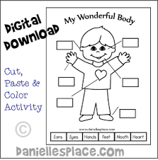 My Wonderful Body Crafts And Learning Activities