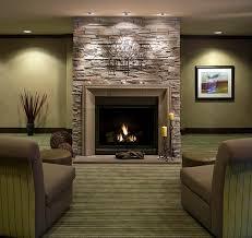 Modern Fireplace Concrete And Stone Livingroom