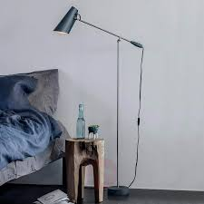 Grey Retro Floor Lamp Birdy Lightsie