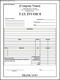 Tax Invoice Layout Gorgeous Tax Invoice Template Word Doc Denryoku