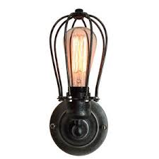 industrial cage lighting. Image Is Loading Vintage-Industrial-Cage-Light-Wall-Sconce-New-Retro- Industrial Cage Lighting
