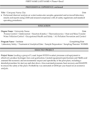 Environmental Technician Resume Sample & Template Page 2