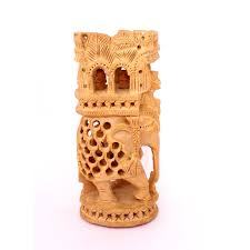 exquisite hand carved wooden indian royal ambabari