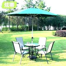 small patio table umbrella set with hole furniture round ring l
