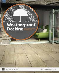create weatherproof decking with outdoor porcelain wood effect tiles