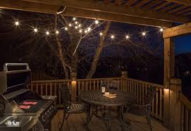 deck lighting. Deck Bistro String Lights Lighting