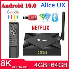 Presale TX6S Tanix Android 10.0 TV Box H616 Chip TX6 4GB 64GB Smart TV Box  Truyền Thông Người Chơi Dual wifi Bluetooth 8K Tivi Set Top Box|
