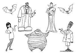 kids n fun com 8 coloring pages of hotel transylvania 2