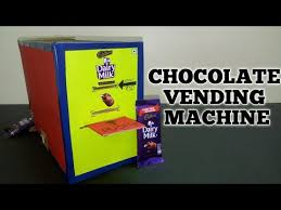 How To Make A Chocolate Vending Machine Delectable Make A Money Operated Chocolate Vending Machine From Cardboard YouTube