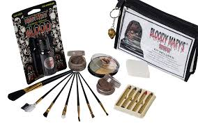 amazon zombie makeup kit by mary costume special effects palette walking dead fx makeup tools 5 crayons blood setting powder