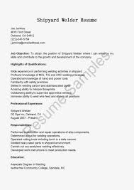 Welder Resume Sample Objective Job Resume Samples Welder Cover