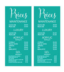 Hair Salon Price List Template Lovely Resume Design Graphic ...