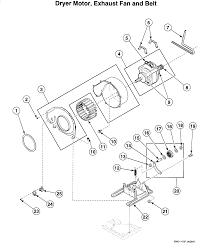 Speed queen laundry center dryer motor parts