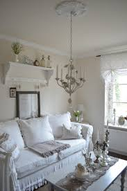 Living Room:Small Shabby Chic Living Room With Centerpiece Decor And Retro  Ornaments On White
